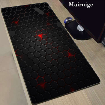 Mairuige Hot Selling Grid Game Player Large Locking Edge Mouse Pad Rubber Non-slip for Desktop Keyboard PC Computer Notebook Mat