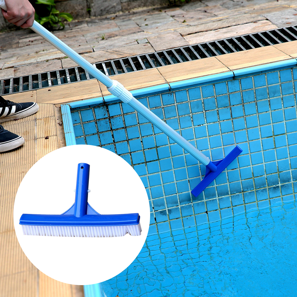 Portable Heavy Duty Surfaces Swimming Pool Accessories Broom Cleaner 10 Inch Cleaning Brush Tip Walls Plastic Spa Curved Algae