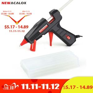 Image 1 - NEWACALOX EU/US 100V~240V 30W/60W/100W Mini Hot Melt Glue Gun with 7m/11mm Glue Sticks for Arts Crafts Home Repair DIY Hand Tool