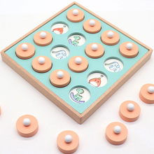 Puzzles Wooden boxed memory match chess toys Game Develop child's memory and observation Wooden Match  Early Educational toy