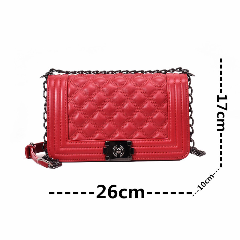 Image 3 - Luxury Quilted Bag Designer Famous Brand Women Bags Leather Ladies Handbags Lingge Crossbody Bags For Women Messenger Bag W435-in Shoulder Bags from Luggage & Bags