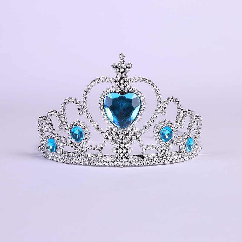 2019 mode Zubehör Mädchen Tiara Krone Multicolor Strass Prinzessin Krone Kunststoff Silber Farbe Headwear