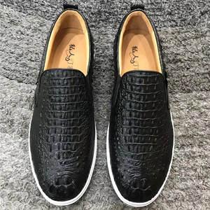 Shoes Crocodile-Skin Alligator Walking-Loafers Flats Footwear Driving Slip-On Male Men's