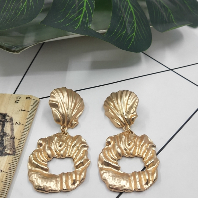 2019 Real Direct Selling Tin Alloy Ethnic Aros Hoop Earrings Earings Jewelry Street Style Simple National Shell Earrings D89