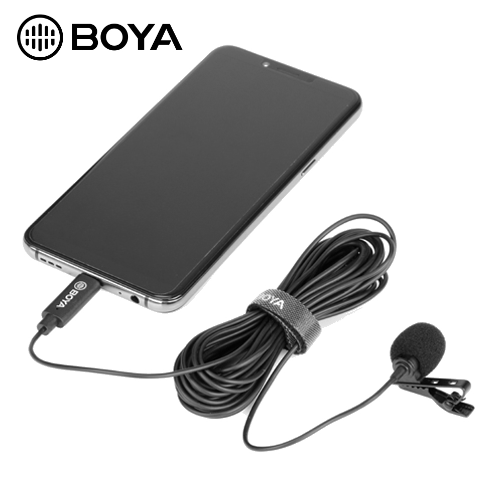 Android Type-C Microphone Lavalier Mic Type C for Android Vlogging Type C Microphone for Interview Phone Microphone Android with Type-C Adapter Podcasting