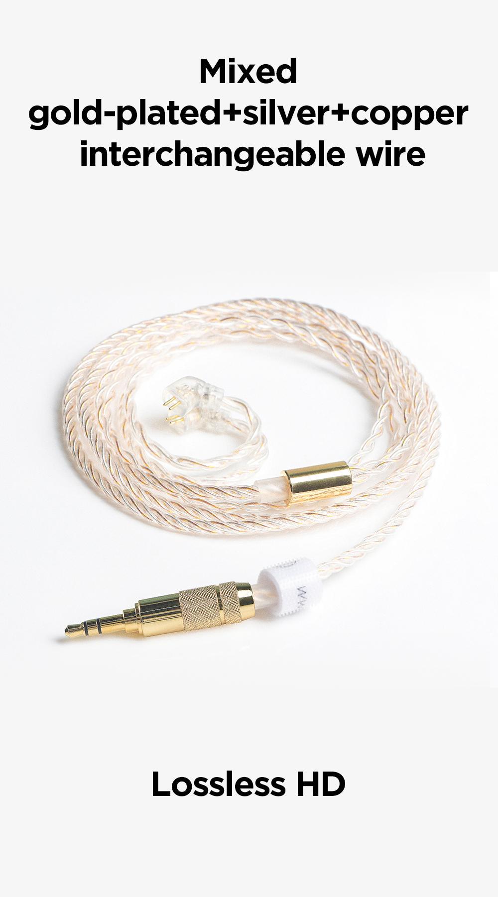 alta fidelidade tfz fone audiophile com 2 pinos cabo