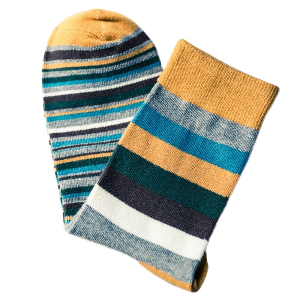 Comfortable Man Crew Socks Fashion Colorful Stripe Autumn Winter Cotton World Famous Painting Male Socks Funny Happy Socks 9.13