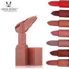 MISS ROSE – rouge à lèvres imperméable, Tube carré, couleur chaude, mat, hydratant, longue durée, vitamine E, TSLM1