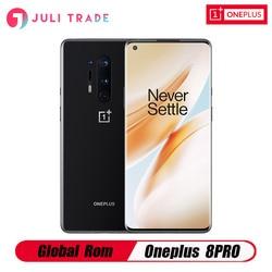 Oneplus 8 Pro смартфон с глобальной прошивкой, 5G, Snapdragon 865, 8 ГБ, 128 ГБ, 6,78 дюйма, 120 Гц, жидкий экран, 30 Вт, Беспроводная зарядка, 4510 мАч