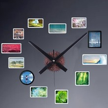 New Retro Wooden Gear DIY Wall Clock Big Hands Creative When Pointer Time Hot Sale