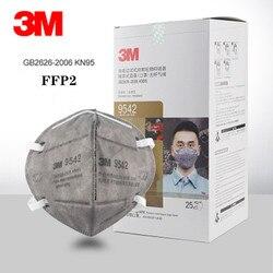 5/10/25 Uds 3M FFP2 N95 9542 máscara antipolvo Gases orgánicos con filtro de carbono decoración Industrial polvo olor formaldehído