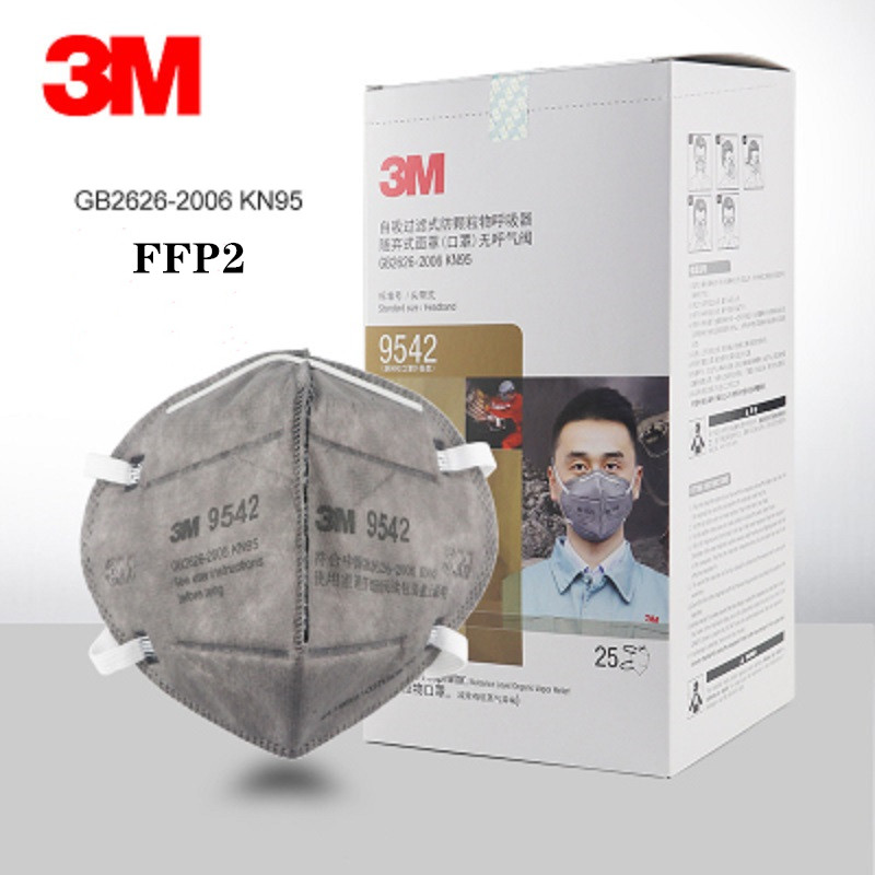 5/10/25pcs 3M FFP2 N95 9542 Dust Mask Anti Organic Gases With Carbon Filter Industrial Dust Decoration Smell Formaldehyde