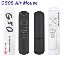G50s voar ar mouse google voz ir aprendizagem microfone giroscópio controle remoto 2.4g sem fio g50 para x96 mini x96 max vs g30s