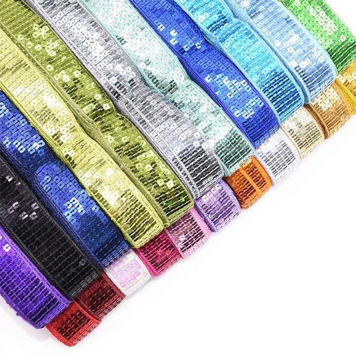 5 ярдов/партия, 5 рядов, квадратная лента с блестками и бисером, 25 мм, кружевная отделка для шитья, ремесла, одежды, головной убор, свадебное ук...
