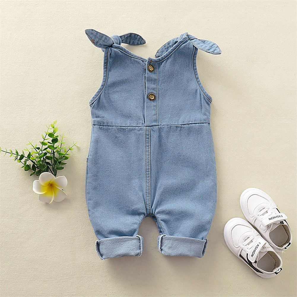 US Newborn Baby Boy Baby Girl Clothes Denim Romper Jumpsuit Outfit Set Overall