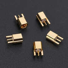MMCX Female Jack Connector PCB Mount With Solder Straight Goldplated 3 Pins G8TB