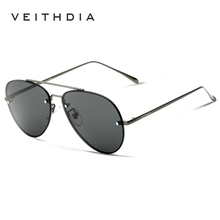 VEITHDIA Brand Fashion Unisex Sun Glasses Polarized Coating Rimless Mirror Sunglasses 3811