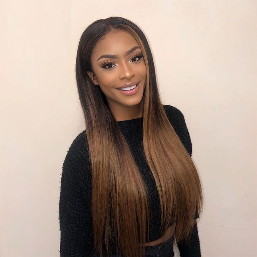Brown 13×Lace Front Human Hair Wigs For Black Women Honey Blonde Lace Front Human Hair Wigs With Baby Hair Raw Indian Hair