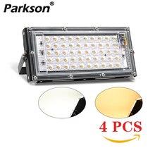4 قطعة 50 واط LED كشاف ضوء التيار المتناوب 220 فولت 240 فولت العارض IP65 الكاشف الأضواء عاكس LED مصباح الشارع إضاءة خارجية