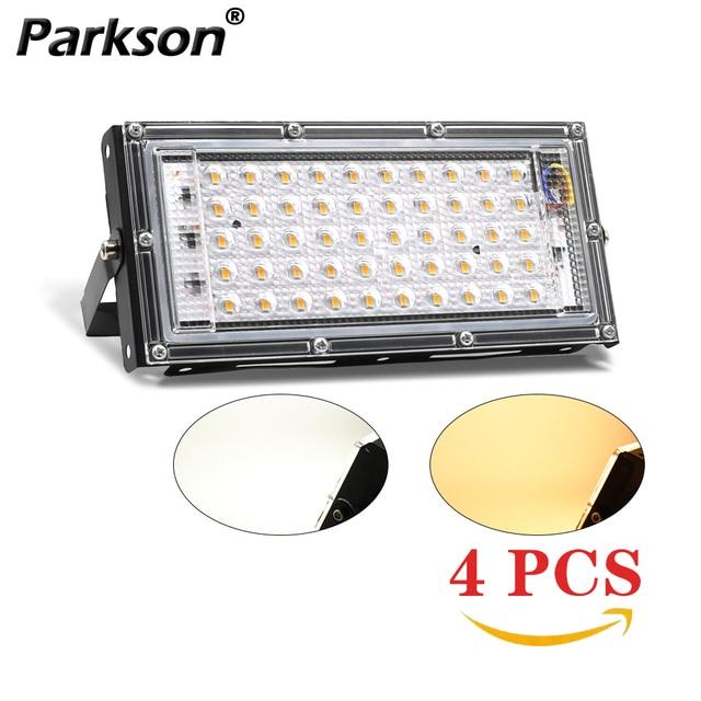 4 sztuk 50W LED światło halogenowe AC 220V 240V projektor IP65 reflektor reflektor LED lampa uliczna światło zewnętrzne oświetlenie