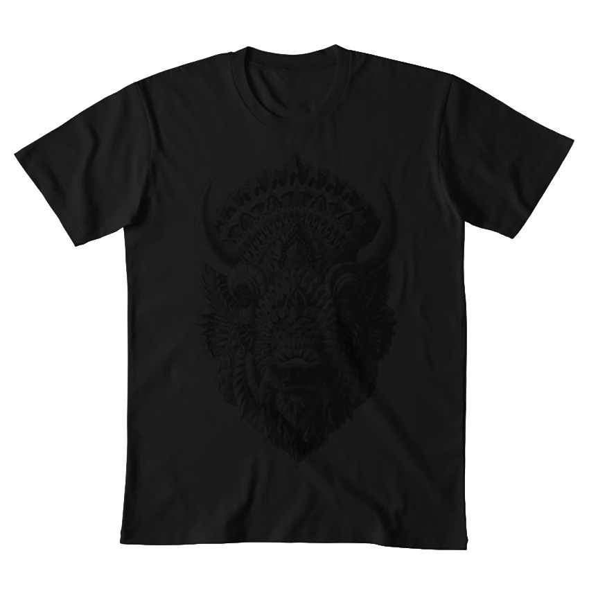 Bison camiseta bison búfalo Toro macho cuerno alpha ben kwok bioworkz com patrón