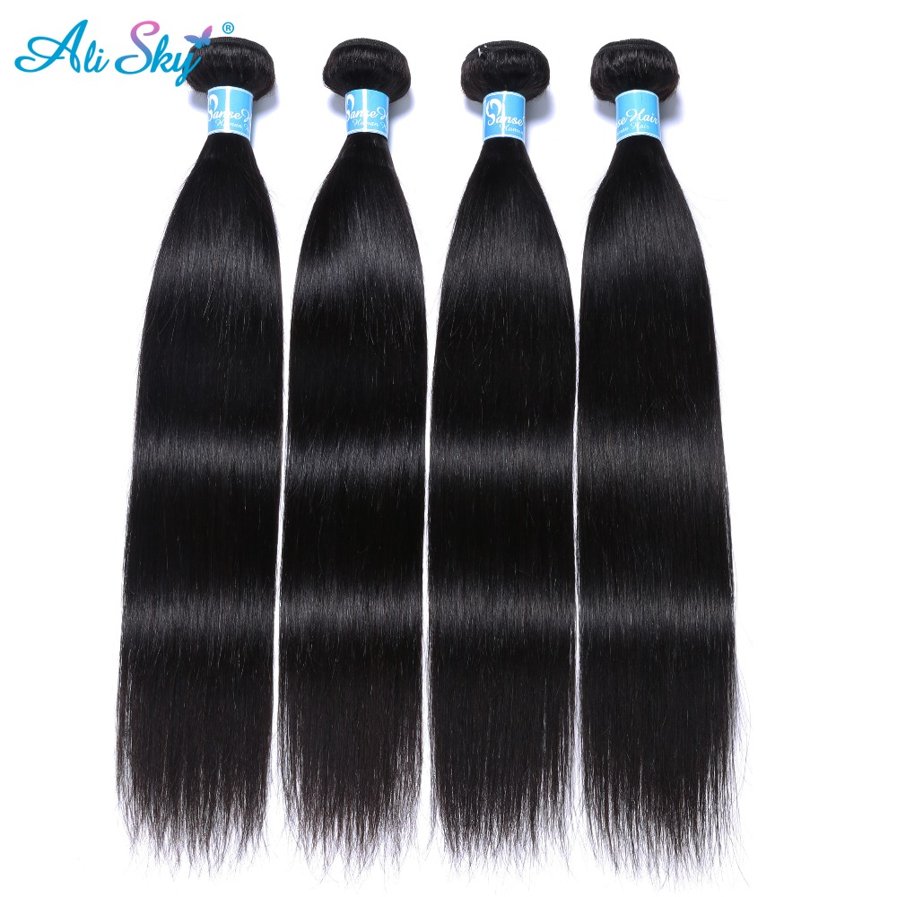 High Quality sky hair with closure