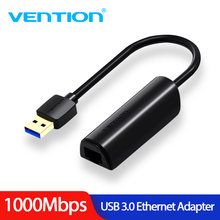 Vention USB 3.0 2.0 Ethernet Adaptor Usb untuk RJ45 Lan Kartu Jaringan untuk Windows10 8 8.1 7 XP Mac OS laptop PC Chromebook Smart(China)