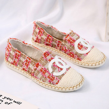 New straw woven women's casual shoes
