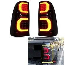 Feu arrière, accessoire pour voiture, éclairage noir, éclairage pour voiture, compatible avec HILUX VIGO, LED 2005, 2014, frein à LED
