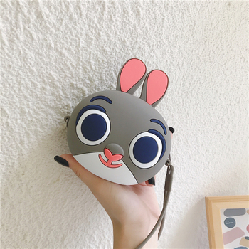 Q UNCLE Kids Wallet Little Girl Purses Coin Pouch Cartoon Zipper Kawaii Wallet Silica Gel Coin Purse Chain Mini Crossbody Bags new fashion women sweet cute ladies girls kids coin purses silicone wallet cartoon clutch purse chain mini bag small coin bags