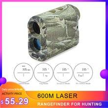 600M lazer menzil avcılık teleskop mesafe ölçer hız test telemetre el kayışı ile askeri aksesuarları mal