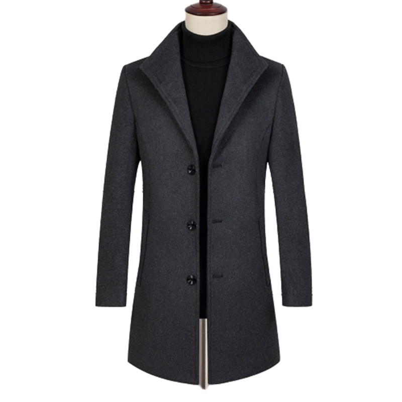 Mens Coats And Jackets Winter Wool Jacket Coats Men High Quality Fahsion Overcoat Casual Long Trench Coat England Style