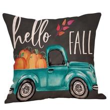 18x18 дюймов новая подушка с изображением тыквы для Хэллоуина черная декоративная наволочка Осенняя зимняя подушка чехол# p8