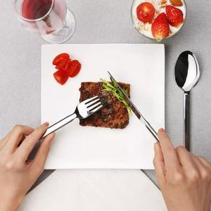Image 2 - Huohou Stainless Steel Steak Knives Spoon Fork Tableware Quality High grade Dinner Dinnerware Household Cutlery Set