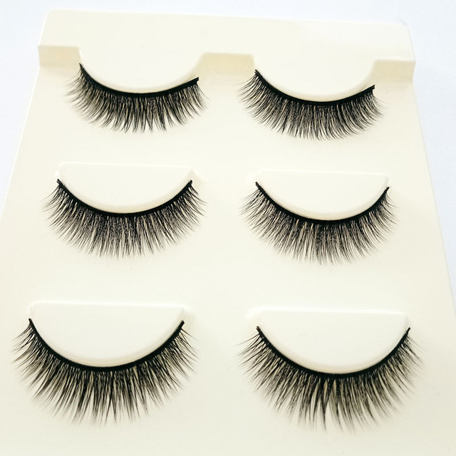 Big Eye Makeup Cross Volumn False Eyelashes Soft Natural False Eyelashes 3D Mink Thick Lashes Handmade Eyemakeup Extension Tools 3