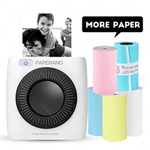 PAPERANG P2 drukarka kieszonkowa przenośna drukarka Bluetooth telefon zdjęcie połączenie bezprzewodowe termiczna Mini kieszeń drukarka etykiet 300dpi