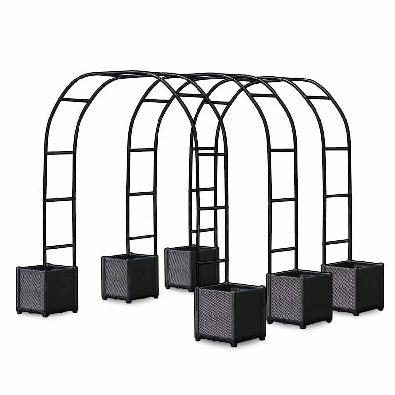 Gardening Arch Climb Arbor Arch Frame Cucumber Rattan Month Grape Bracket Plant Box Rack Courtyard Balcony Flower Rack