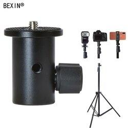 Câmera suporte de luz cabeça conversão flash suporte adaptador montagem 1/4 para guarda-chuva titular fotografia equipamentos acessórios