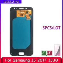 5 Pcs/Lot Lcds For Samsung Galaxy J5 2017 J530 SM-J530F Super AMOLED LCD Display Touch Screen Assembly With Tempered Glass