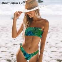 Minimalizm Le zakrętka tubki Bikini Set kobiety lato Bikini z kwiatowymi wzorami Sexy niskiej talii brazylijski strój kąpielowy nowy strój kąpielowy strój kąpielowy