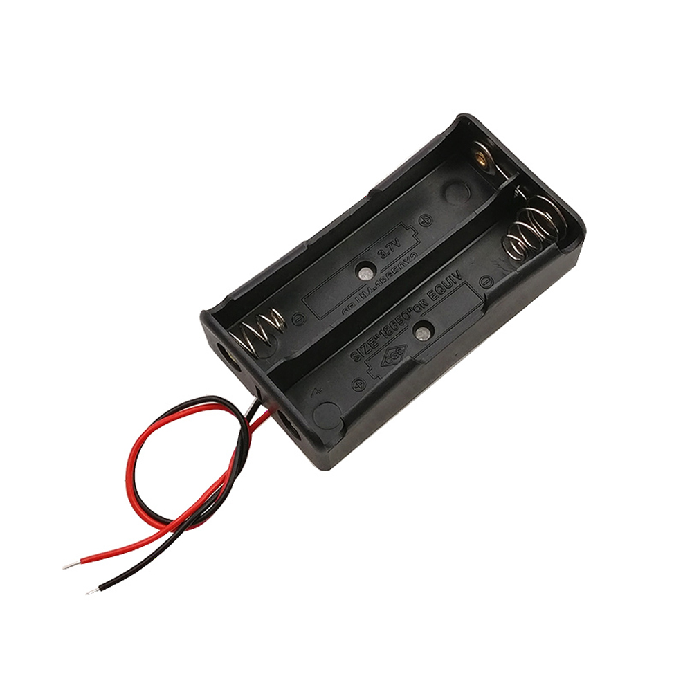 Cheap 18650 Battery Boxes With Cable Lithium Battery 18650 With Cables 2pcs 7.4v Battery Boxes Charge In Series
