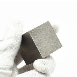 5N di Alta Purezza Tungsteno Tungsteno Cubo W Blocco 99.999% di Ricerca di Sviluppo Elemento Metallico Semplice Sostanza Dura di Metallo Affilato 38 MILLIMETRI