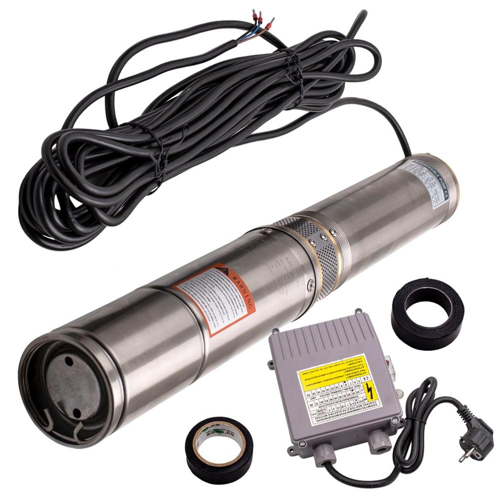 Погружной насос для глубокой скважины, 2850 об/мин, 4 дюйма, 370 Вт, глубина 45 м, 6000 л/ч