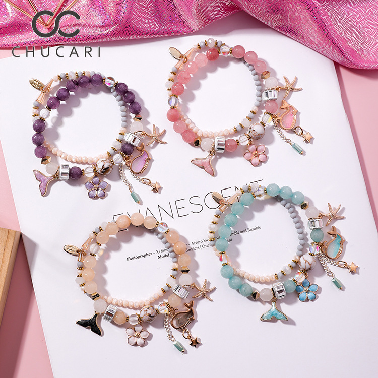CHUCARI Fashion Romantic <font><b>Bracelet</b></font> Women Flower Whale Starfish Pendant Bling Beads Fit <font><b>Pan</b></font> <font><b>Bracelets</b></font> Jewelry Crystal <font><b>Bracelet</b></font> image