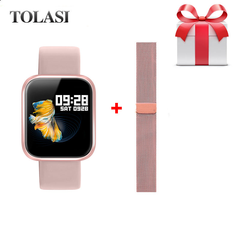 Montre intelligente Sport Bracelet Fitness fréquence cardiaque tensiomètre femmes Smartwatch pour Apple iPhone iOS Android Reloj Mujer