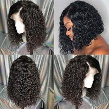 Короткие 4x4 шелковая основа, полностью кружевные человеческие волосы, парики, предварительно выщипанные волосы с детскими волосами, бразильские вьющиеся шелковые парики, волосы remy