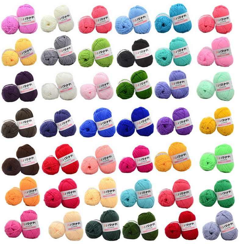 Super doux lait coton fil Fiber velours laine Crochet fil pour tricoter à la main bricolage pull couverture écharpe pull couverture jouet