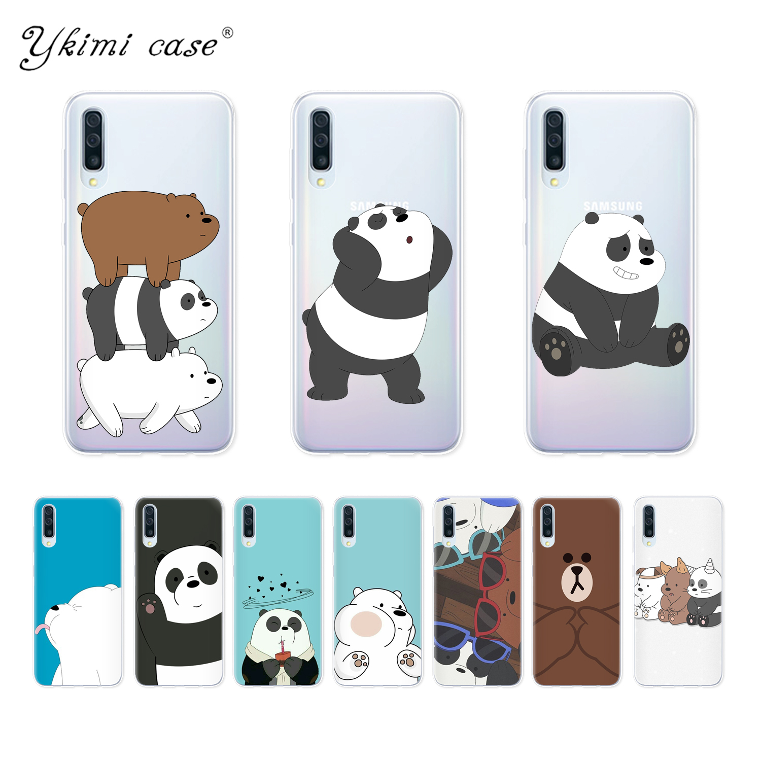 Phone Case For <font><b>Samsung</b></font> Galaxy <font><b>A10</b></font> A20 A30 A40 A50 A70 Case Cute Cartoon We Bare Bears Panda Coque Soft Silicone TPU <font><b>Funda</b></font> image