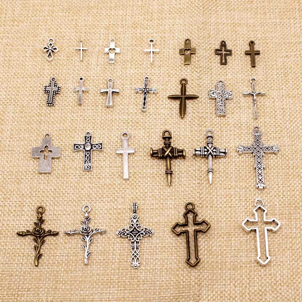 1 Stuk Mix Sieraden Bevindingen Componenten Religieuze Cross Charms HJ159