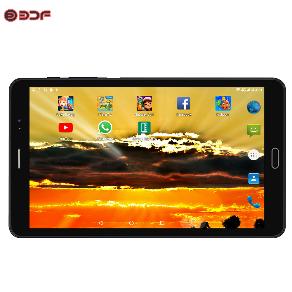 BDF Original 8 Inch 3G Phone Call Quad Core Android 6.0 Android Tablet Pc 1GB+32GB WiFi Bluetooth Google Play Tablets